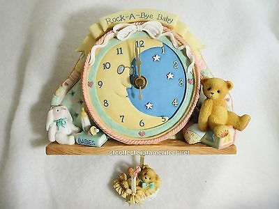 Cherished Teddies Clock - Baby 2001  NIB