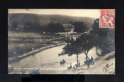 7471-TURKEY-LEVANT-OLD POSTCARD COSTANTINOPLE to V.ST.LOU (france)1911.Turquie.