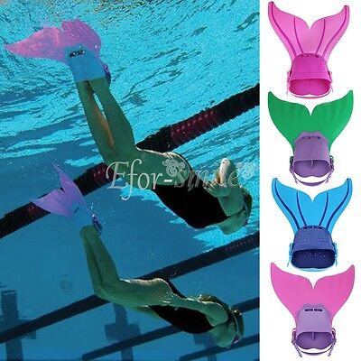 Kids Girls Mermaid Monofin Flippers Swimming Mermaid Tails Pool Toy Prop Costume