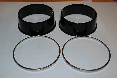 Kawasaki Z1 Z900 Z1000 Boitiers Compteurs  Gauges Cover With Crimp Ring