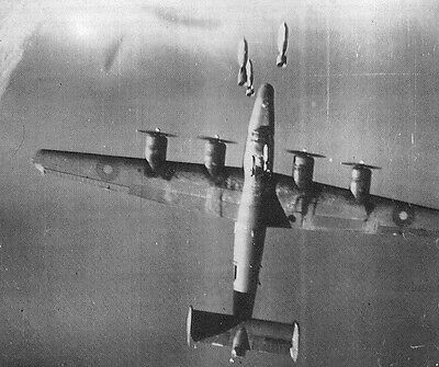RAF B-24 Hit by Bombs Mid-Air Amazing  Photo WWII WW2