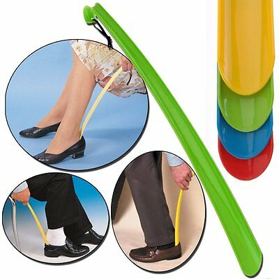 Extra Long Plastic Shoe Horn Remover Lifter Disability Aid Flexible Stick 42cm
