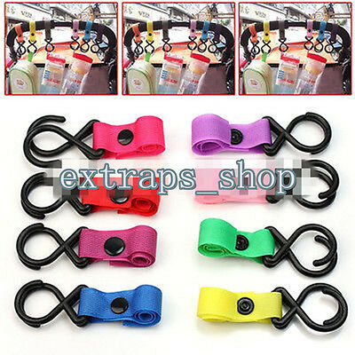 Baby Infant Pushchair Car Stroller Carriage Pram Tape Strap Hook Hanger Plastic