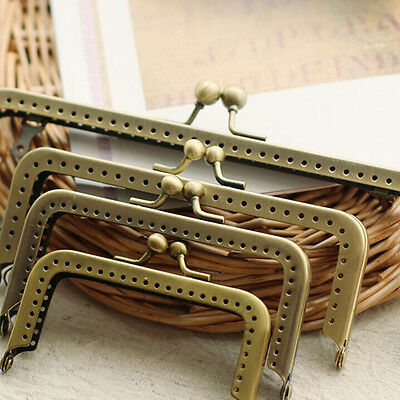 Bronze Metal Frame Kiss Clasp  For Purse Handle Bag 8~18CM(3.15inch~7.09inch)
