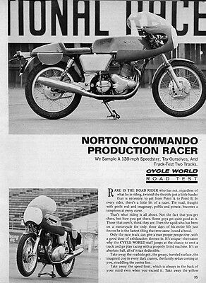 1971 Norton Commando Production Racer Motorcycle Original Road Test