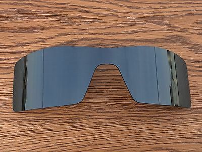 New Black Iridium Polarized Replacement lenses for-Oakley Oil Rig two pieces