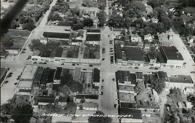 Madison NE Birdseye View Real Photo Postcard