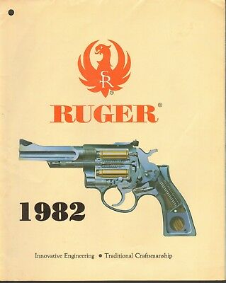 Ruger Quality Firearms Brochure (hole-punched) - 1982
