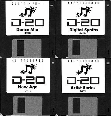 Roland D-20 / D20 4-disk synth patch set
