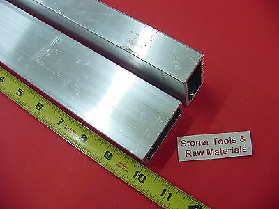 "2 Pieces 1""x 2""x 1/8"" Wall ALUMINUM RECTANGLE TUBE 6063 T52 x 10"" Long .125"" W"