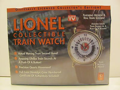 Lionel Trains Collectible Watch by TeleBrands w/ Tin SEALED NEW
