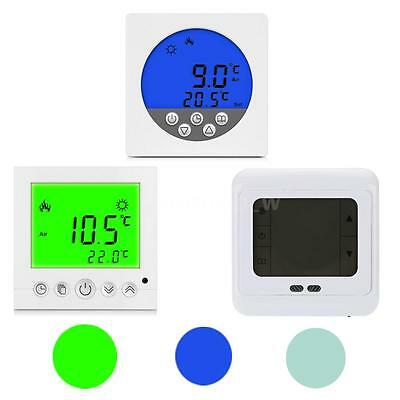 Digital LCD Heating Thermostat Programmable Central Heating Room Controller O0BA