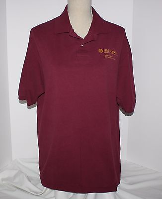 Girl Scout Womens Burgundy Red Polo Shirt Large San Gorgonio Council California