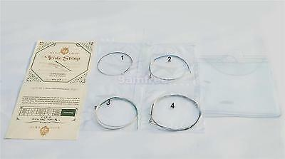 A Set of Viola Strings 4pcs C-G-D-A German Silver Core Nickel Silver Wound