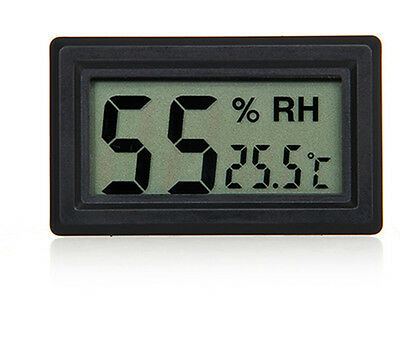 Battery Operated Digital LCD Thermometer Hygrometer Humidity Temperature Black E
