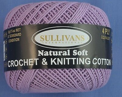 Lilac 4 ply Crochet or Knitting Cotton