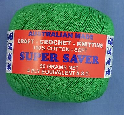 Green 4 ply Crochet or Knitting Cotton