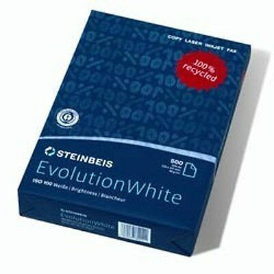 2 3 4 5 10 15 20 Reams Box of White A4 80gsm Steinbeis Evolution Printer Paper