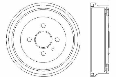 To Clear - New Mintex - Front / Rear - Brake Drum ( X1) - Mbd048