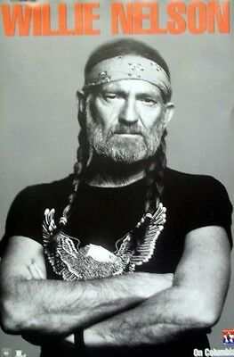 WILLIE NELSON 2003 on columbia BIG promotional poster ~NICE~NEW old stock~!!