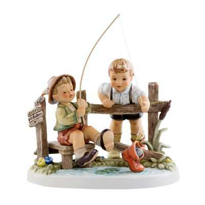 M.I. Hummel Figurine Moments in Time 2013 Just Fishin Master Model Maker NN 17.5