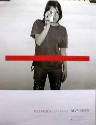 NEW ORDER 2001 get ready new music promo poster ~NEW old stock~MINT condition~!