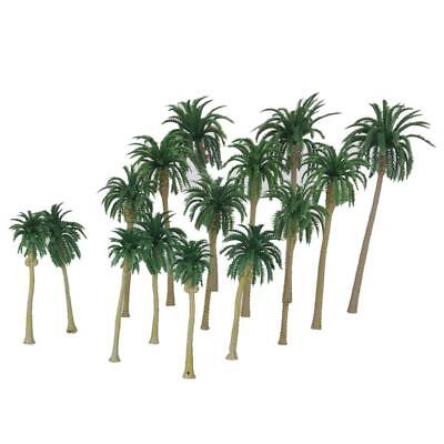 15 Tropical Coconut Palm Trees Model Train Diorama Scenery HO N Multi Scale