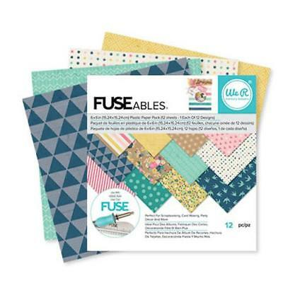 "FUSEables Paper Pad 6""X6"" 12/Pkg-12 Designs by We R Memory Keepers"