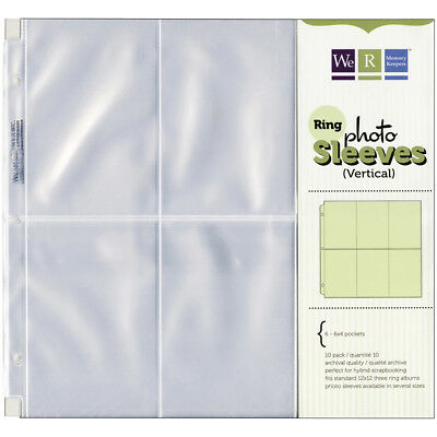 """We R Ring Photo Sleeves 12""""X12"""" 10/Pkg-Six 6""""X4"""" Pockets by We R Memory Keepers"""
