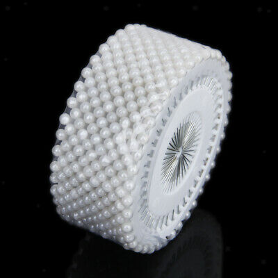 480pcs White Round Head Faux Pearl Decorate Dressmaking Craft Sewing Pins 1.5""