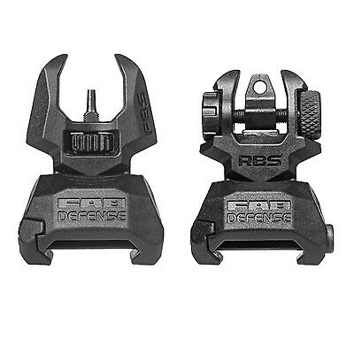 FAB Defense Front & Back Polymer Back-Up Picatinny Sight Set - FBS RBS