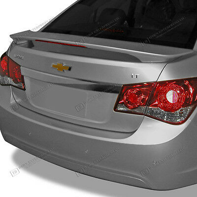 Spoiler UNPAINTED Wing With LED Brake Light For: CHEVY CRUZE 2010-2015