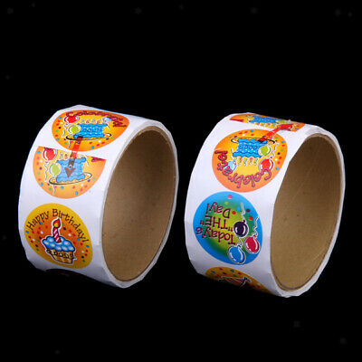 200 Happy Birthday cake Stickers Kids Party Favor Art Craft Project scrapbooking