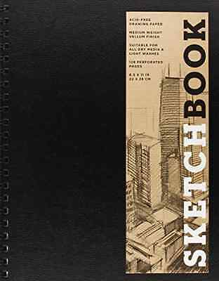 Sterling Publishing Co.,-Sketchbook (Basic Large Spiral Blac AC NEW