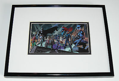 Batman Heroes Superman Catwoman Robin Framed Cel Promo Card Jim Lee