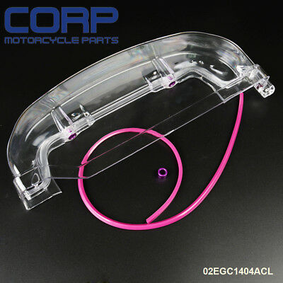 Clear Cam Gear Timing Belt Cover For Mitsubishi Eclipse 4G63 Turbo RVR EVO 1 2 3