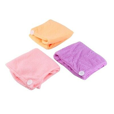 Microfibre After Shower Hair Drying Wrap Towel Quick Dry Hair Hat Cap Turban GU