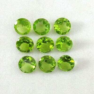 11 Ct+ Natural Finest Peridot Round Cut 6mm- 7mm Gems For Jewelry #Gems-India qz