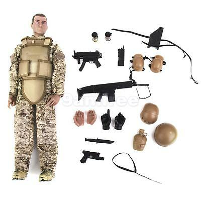 """NEW 12"""" 1/6 Military Army Combat Desert ACU Soldier Action Figure Model Toy"""
