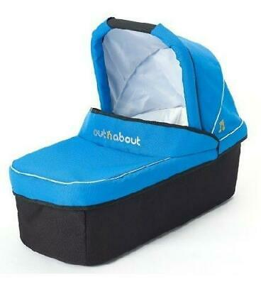 Out n About Nipper Carrycot (Lagoon Blue) with Mattress