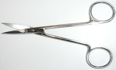 STAINLESS STEEL EMBROIDERY or STRAIGHT CUTICLE SCISSORS 110mm