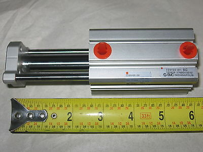 "SMC CDQMA32-50 Guided Pneumatic Cylinder 32mm (1.26"") Bore  50mm (1.96"") Stroke"