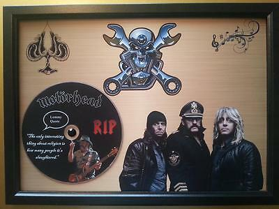MOTORHEAD / LEMMY Memorabilia CD Quote frame on gold background,Heavy Metal,New