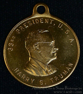 1949 Harry S Truman Souvenir 29mm Bronze Presidential Inauguration Medal.