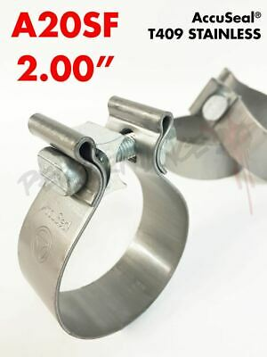 """2"""" USA Torca AccuSeal 409 Stainless Steel Exhaust Band Clamp A20SF AS200SS"""