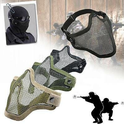 Protector Half Face Metal Steel Mesh Masks Tactical Airsoft Military Halloween