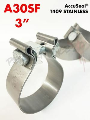 """3"""" USA Torca AccuSeal 409 Stainless Steel Exhaust Band Clamp A30SF AS300SS"""