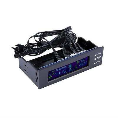 5.25 inch PC Fan Speed Controller Temperature Display LCD Front Panel GU