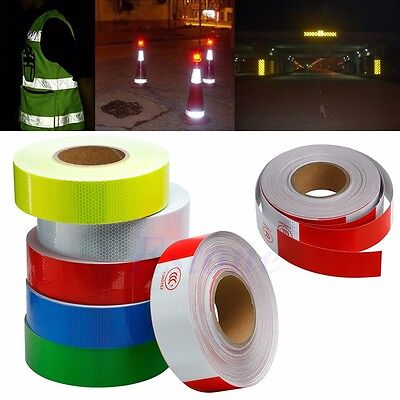 "50M 2"" Reflective Safety Warning Conspicuity Tape Film Sticker For Car Truck New"