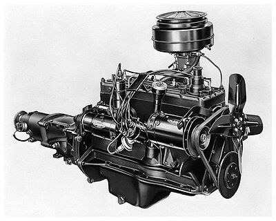 1951 Kaiser Henry J Engine Factory Photo ca4048